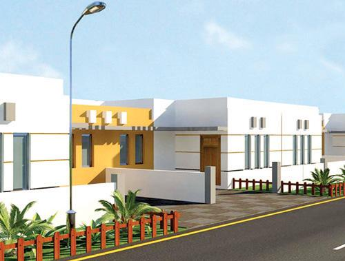 Aashyana Housing Project - a Model view of houses